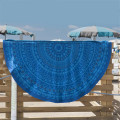 Blue Jacquard Cotton Roundie Softtextile Beach Towel