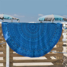 Personlized Products for Round Beach Towel Blue Jacquard Cotton Roundie Softtextile Beach Towel export to Bosnia and Herzegovina Factory