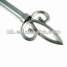 Антикварная латунная металлическая концевая занавеса, двойная дорожка, удлиняемая дорожка для занавеса