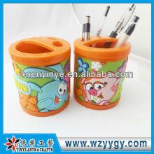 niedliche Kunststoff Stifthalter mit weichem PVC-Hülle