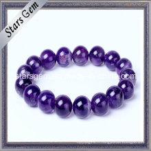 Bracelet de vente chaude Perles naturelles d'améthyste
