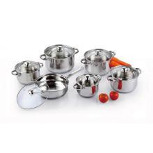 Set de 12 casseroles et poêles en acier inoxydable