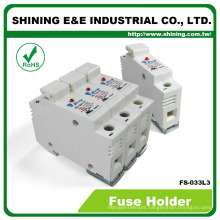 FS-033L3 With Indicator 600V 32A 3 Position Din Rail Fuse Carrier