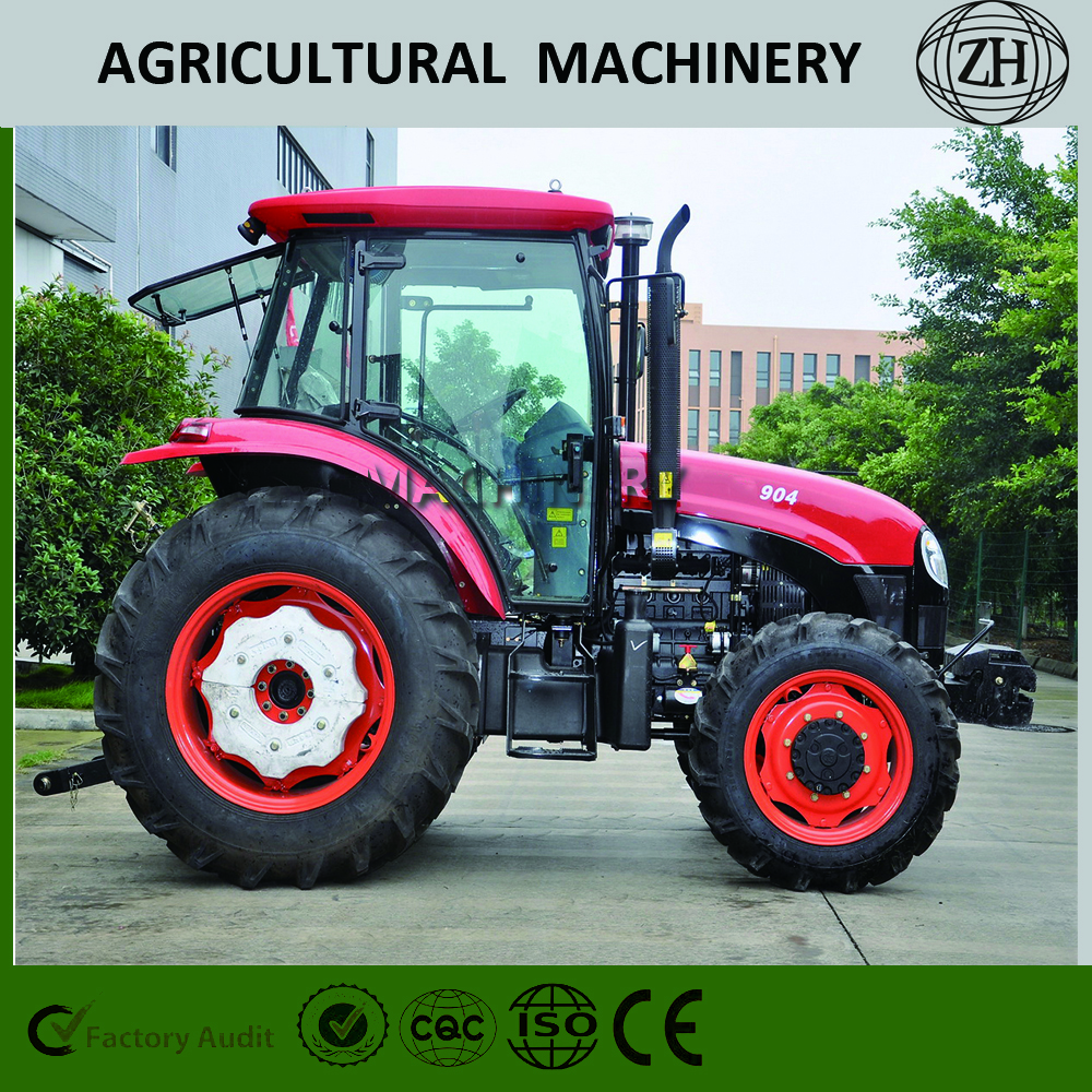 4 Wheel Drive 90 HP Wheeled Farm Tractor