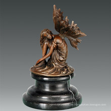 Mitología Escultura de bronce Flor de hadas Decoración de latón Estatua TPE-809