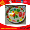 Vintage Enamel Fruit Plate Fruit Decorated Enamel Dish/Vegetable Plate