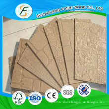 2.5 mm Home Decoration Hardboard Wall Panel