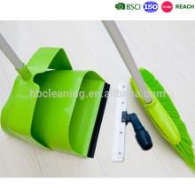 recogedor de polvo de plástico de alta calidad y conjunto de cepillos con escobilla de goma