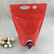 Bolsa en caja con cierre de cremallera y empaque de jugo con válvula de mariposa