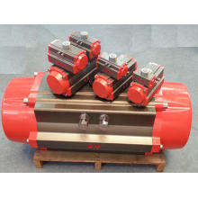 Actuador neumático: acero aleado niquelado y eje de alta precisión