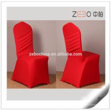 Design de Moda 200GSM Lycra tecido Popular Linen Chair Covers Casamento