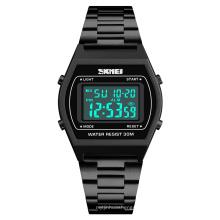 Skmei 1328 gold watches luxury sport black digital stainless steel wrist watch