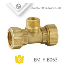 ЭМ-Ф-B063 сантехника медь материал и кованые аксессуары 3 способ латунь компрессионный фитинг