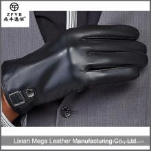 2015 Bonne qualité Nouveaux hommes longs gants en cuir noir