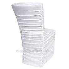 usine de couverture de chaise universelle, CTS786, style plissé, 200GSM meilleur tissu lycra
