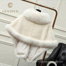 Hot Selling highly stylish mink fur shawl