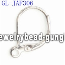 Silver plated lever back jewelry findings