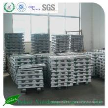 Prix d'usine Lingot d'aluminium 99,7%