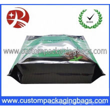 Pet Plastic Custom Stand Up Pouches With Flat Bottom For Candy
