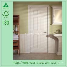 Porte en bois composite d'intérieur apprêté blanc