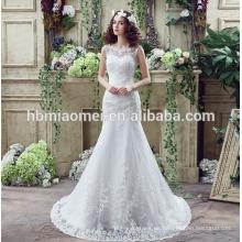 Suzhou weiß bestickt Braut Brautkleid mit großen Schwanz