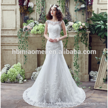 suzhou white embroidered beading bride wedding dress with big tail