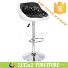 Silla de Ruibao Venta al por mayor Simple diseño de cuero giratorio de taburete