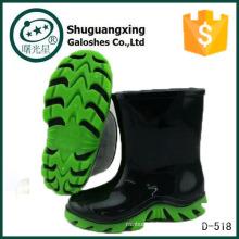 bottes de pluie de pvc d'enfants Chaussures enfants enfants D-518