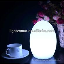Forma de ovo 15 cores de ovos de mesa luz de piscamento