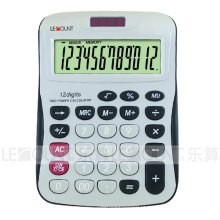 12 dígitos calculadora da mesa de energia solar com grande espaço para impressão de logotipo (LC257-12D)