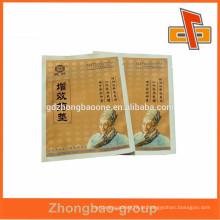 De boa qualidade e aceitar folha de alumínio de encomenda personalizado pequeno saco de papel de medicina design para medicamentos heathy