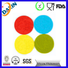 Promotional Silicone Cup Mat Custom Tea Cup Coaster Tableware Insulation Pad