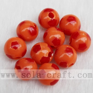 Lovely Football Double Color Mixed Loose Beads