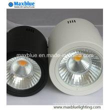 15W noir / blanc Dimmble Open Mount LED Downlight