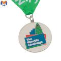Silver running enamel commendation medal