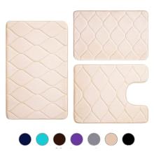 Набор из 3 предметов коврика для ванны из пены с эффектом памяти