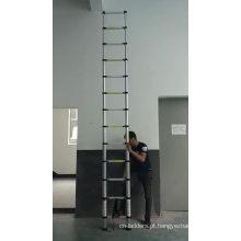 Escada telescópica de alumínio 3.8M com EN131 SGS CE