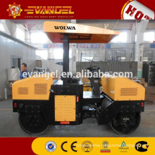 Wolwa tandem road roller 4t double drum vibration roller