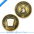China New Design Customized Antique Style Pressure Stamping Challenge Coin in High Quality