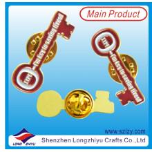 Mode Schlüsselform glänzend Gold Emaille Anstecknadel (LZY-10000362)