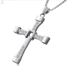 Bulk Custom 925 Sterling Silver Cross Pendant Necklace