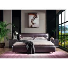 Purple fashion soft bed