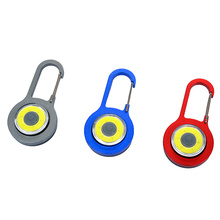 Multi-colour plastic battery mini carabiner compass keychain