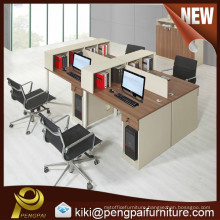 MDF board modern 4 person office computer workstation
