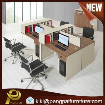 MDF board modern 4 person office computer workstation
