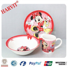 Ceramic Dinnerware Set with Carton Design/Children Dinner Set