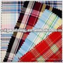 100% Cotton Yarn Dyed Wholesale plaid check Shirting Fabric