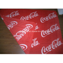 Doule Sides Printed Coca-Cola Fleece Blanket (SSB0135)
