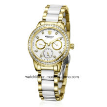 New Fashion Diamond Stainless Steel Ladies Wrist Watch