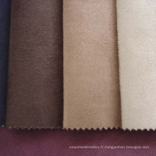 Tissu d'ameublement canapé polyester suédine avec l'appui de T/C